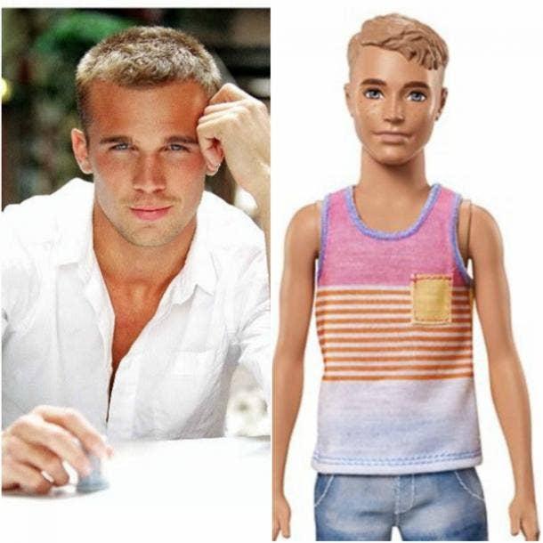 Mattel ken dolls Barbie Celebrity Resemblance