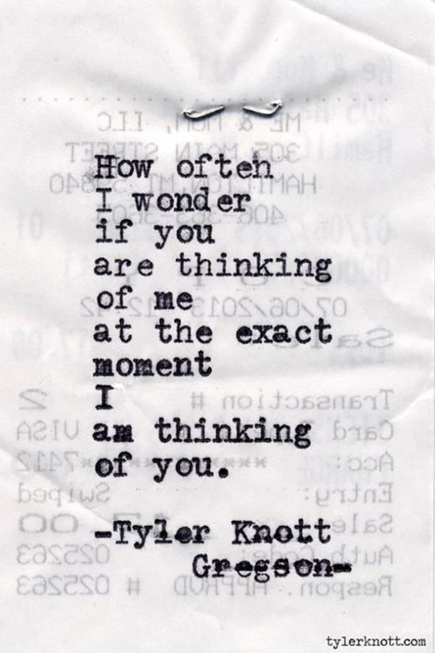 30 Love Poems By Tyler Knott Gregson Are SUPER Inspiring