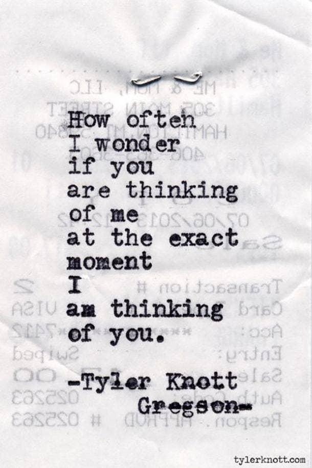 Tyler Knott Gregson Instagram Love Poems Quotes
