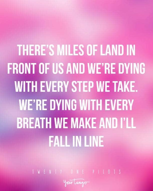twenty one pilots lyrics march to the sea