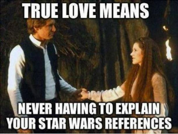 Han Solo and Princess Leia I love you meme