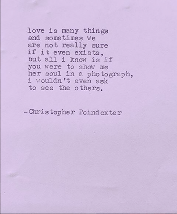 14 Instagram Love Quotes From Poet Christopher Poindexter ...