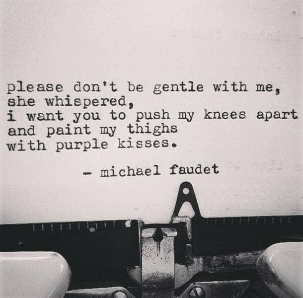 Michael Faudet quotes instagram poet sex poems