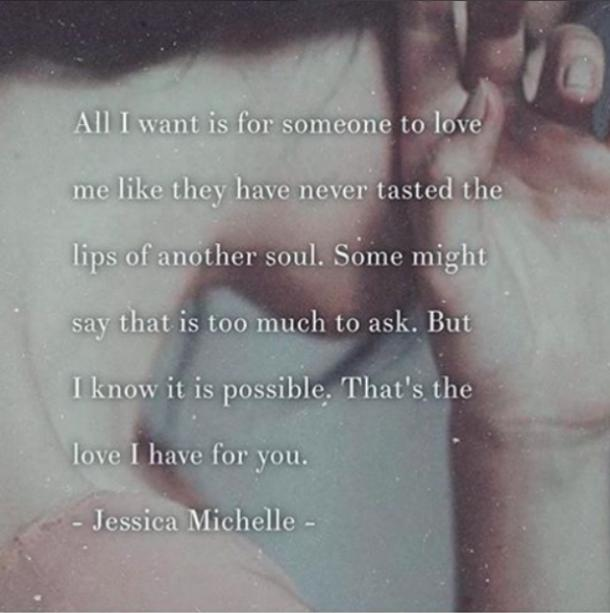 Jessica Michelle Quotes Love Poems Instagram Quotes