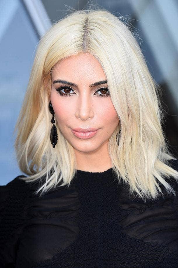Kim Kardashian Blonde Celebrities Body-Image Confidence