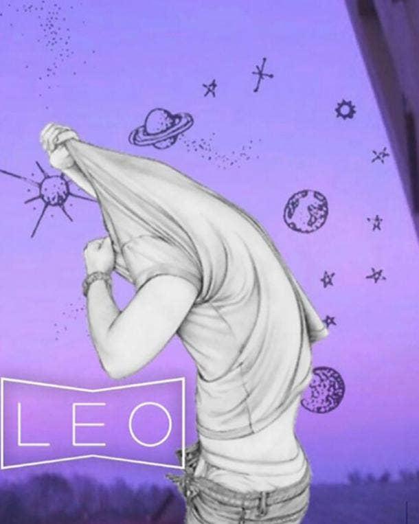 leo zodiac signs drunk