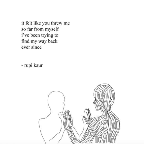 Rupi Kaur Poet Instagram Quotes Breakup Grief Feminist