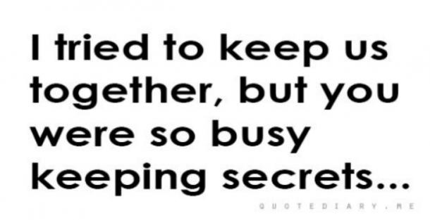how to keep cheating a secret