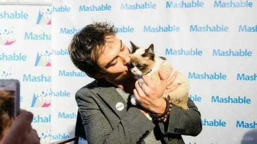 "<a href=""http://mashable.com/2013/03/12/grumpy-cat-andrew-wk-ian-somerhalder/"">mashable.com</a>"