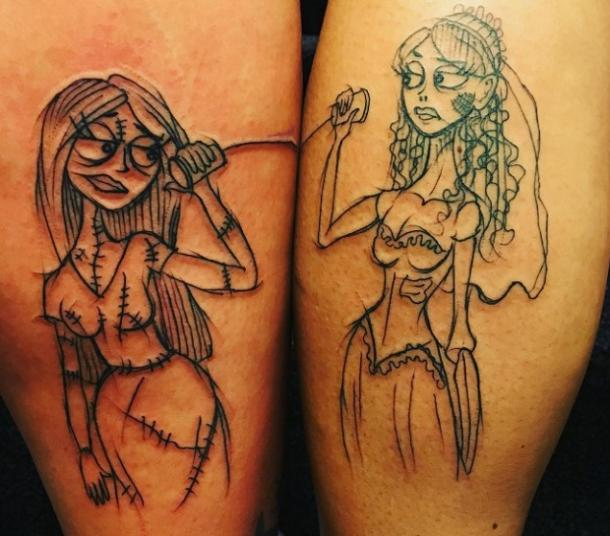 9. The Ladies of Stop-Motion Animation Tattoos