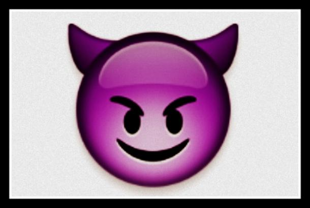 flirty emoji Smiling Face With Horns