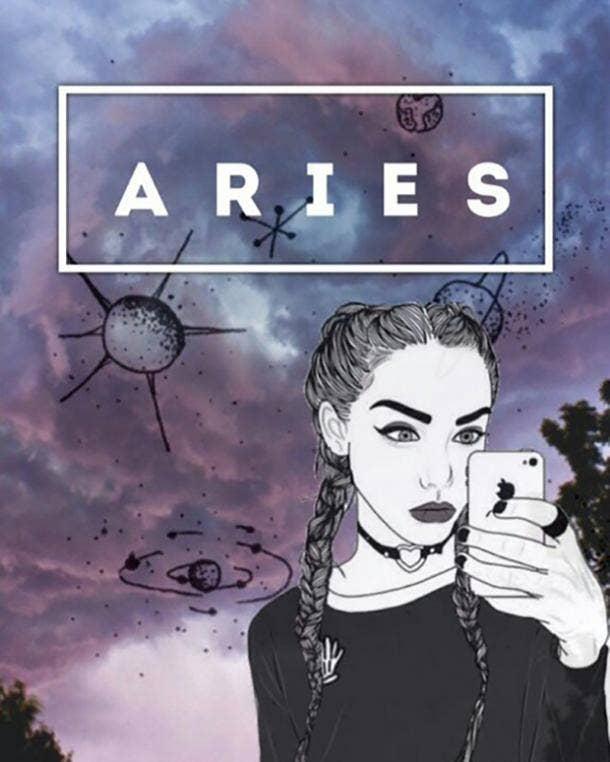 Zodiac Sign Astrology Friends Aries