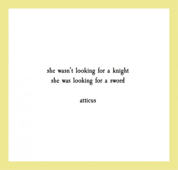 She wasn't looking for a knight she was looking for a sword.