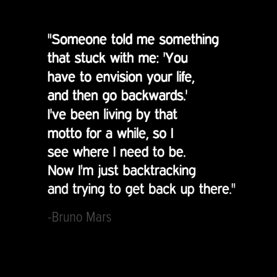 Bruno Mars inspirational quotes