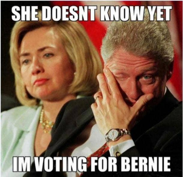 Bernie Sanders Memes Hillary Clinton