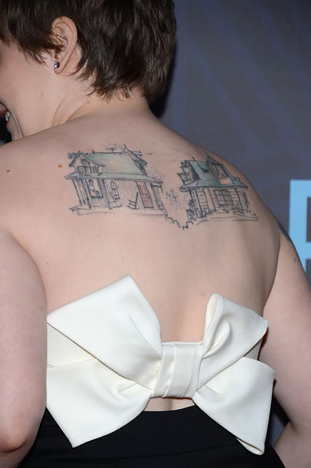 Lena Dunham most unique celebrity tattoos
