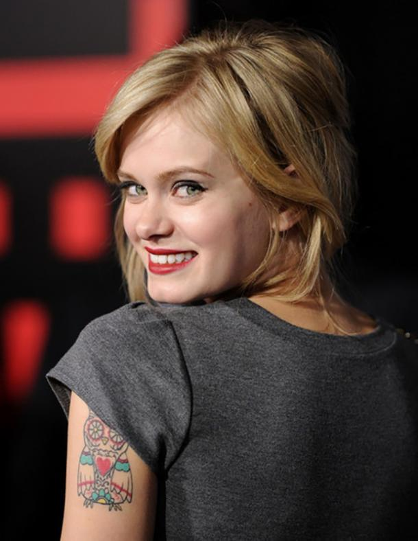 Sara Paxton most unique celebrity tattoos