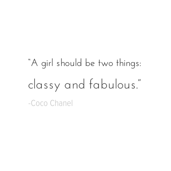Coco Chanel inspirational quotes