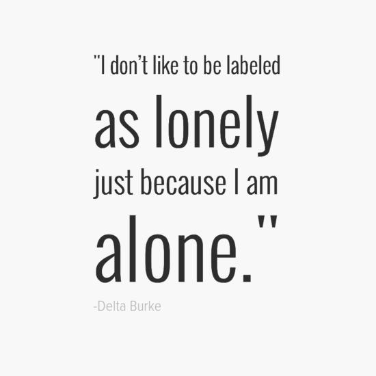 Delta Burke inspirational single quotes
