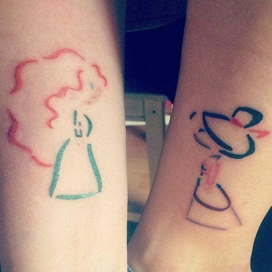 amazing disney best friend tattoos ideas yourtango