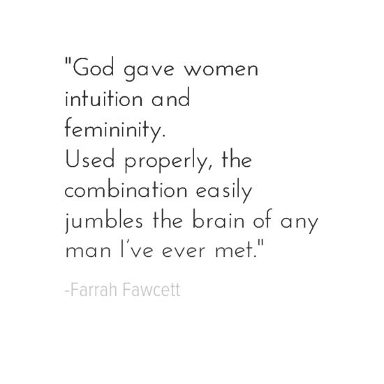 Farrah Fawcett women quote