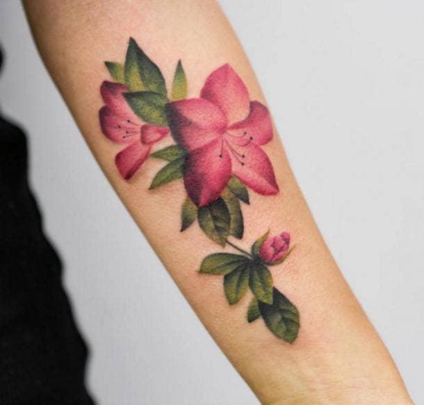 Georgia Grey Watercolor Unique Tattoo