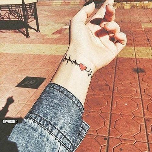 heartbeat suicide awareness tattoo
