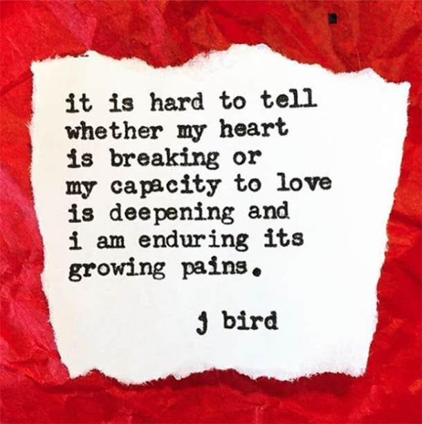 J.Bird Poet Instagram Quotes Love Heartbreak