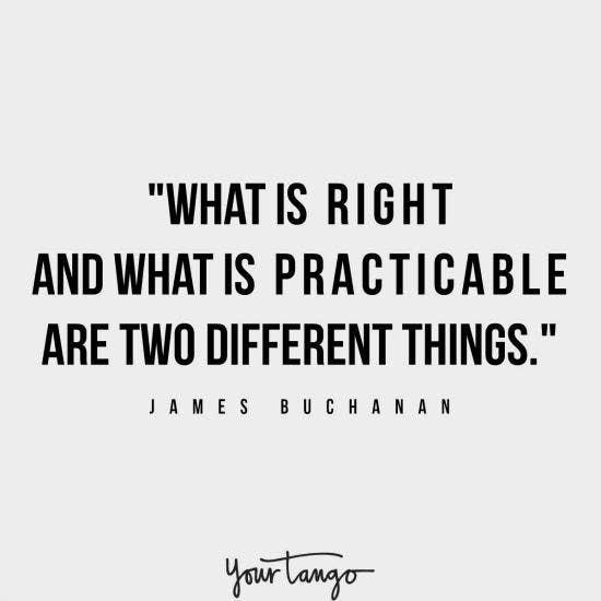 James Buchanan inspirational president quotes
