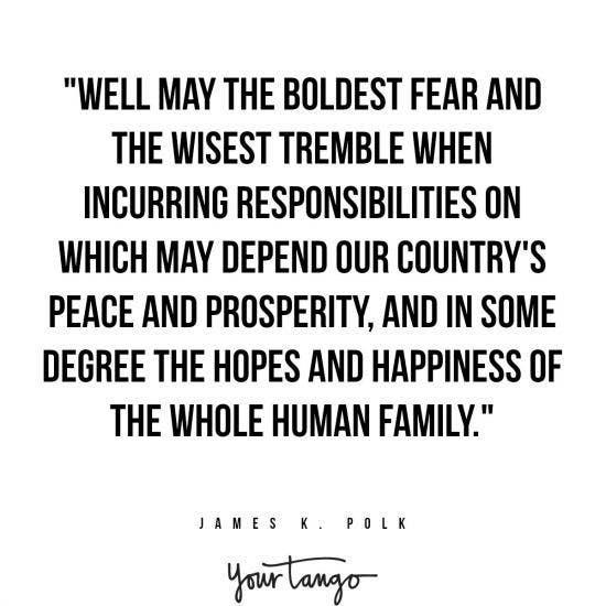 James K. Polk inspirational presidential quotes
