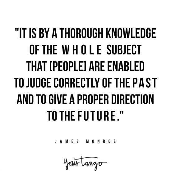 James Monroe inspirational president quotes