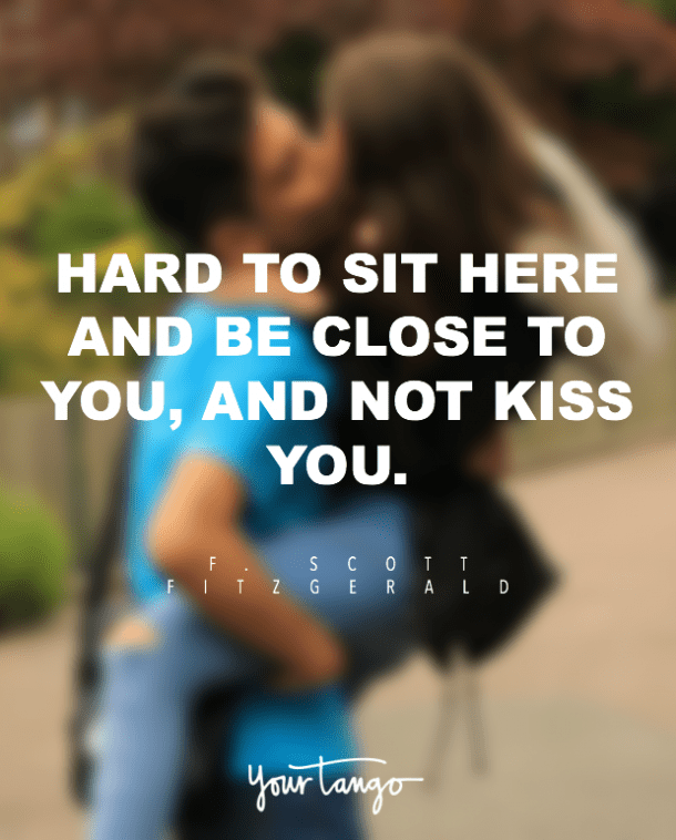 F. Scott Fitzgerald kiss quotes about kissing
