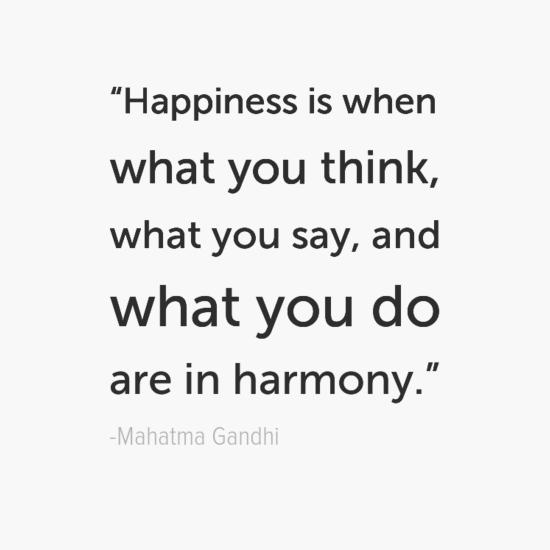 المهاتما غاندي جعل اقتباسات سعادتك الخاصة