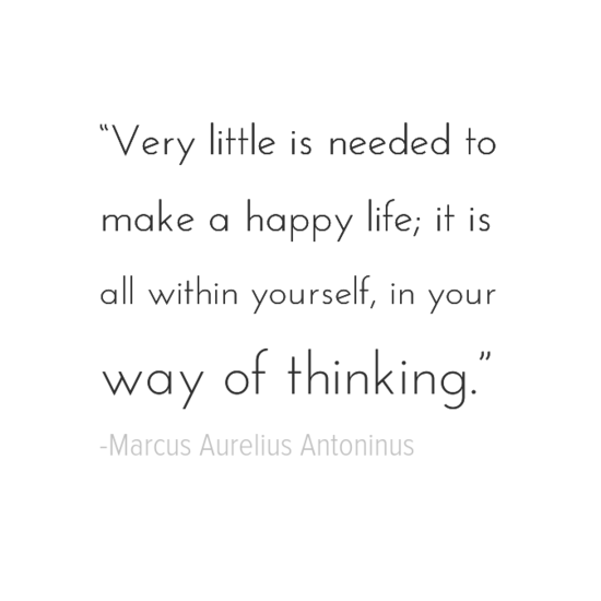 Marcus Aurelius Antoninus happiness quotes