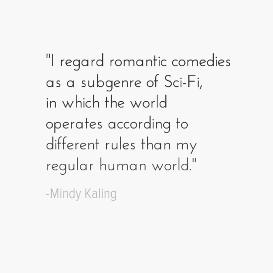 mindy kaling quote about being single