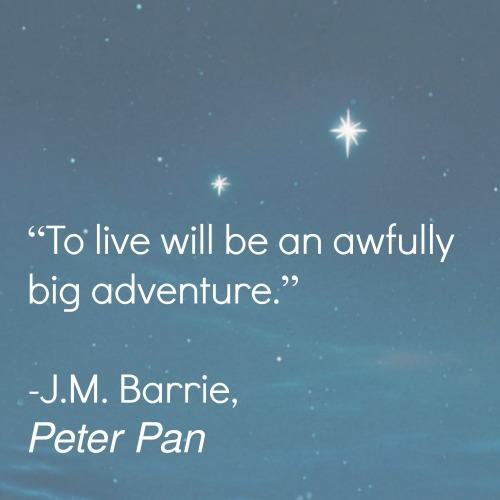 Peter Pan inspirational quote