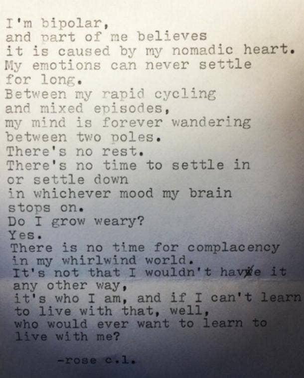 Rose Luiten Poetry Instagram Quotes Bipolar Depression