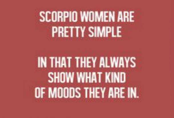 scorpio moods