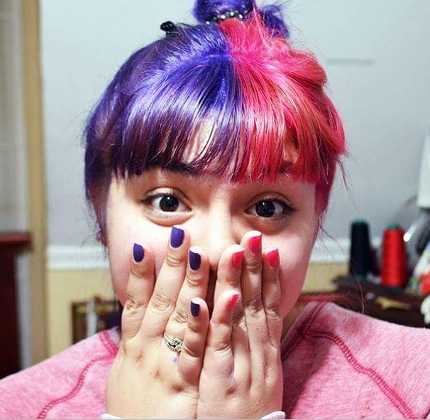 pink and purple hair