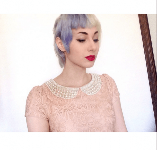 lavender and blonde