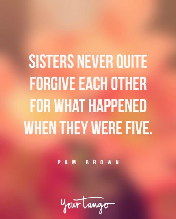 pam brown sister fight quote