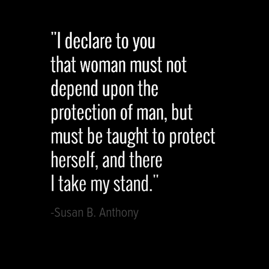 Susan B. Anthony women quote