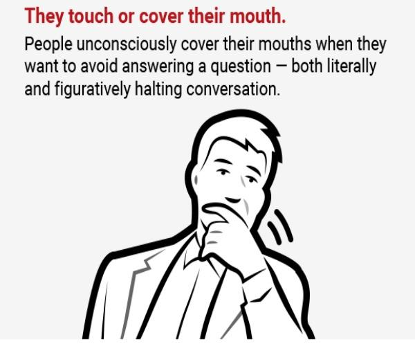 Touch or cover mouth..