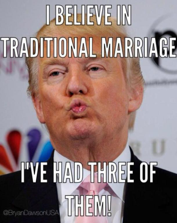 Funny Donald Trump meme : marriage
