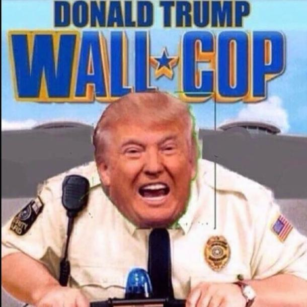 Funny Donald Trump wall meme