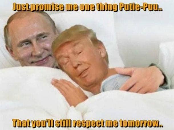 Funny Donald Trump Putin meme