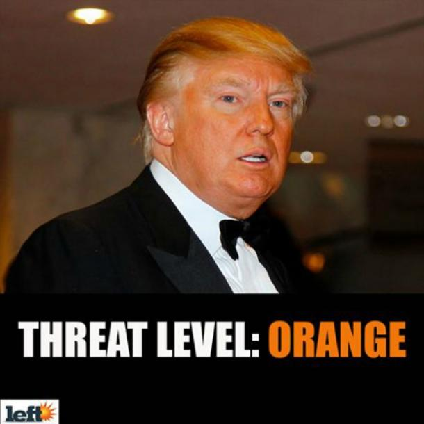 Funny Donald Trump orange meme