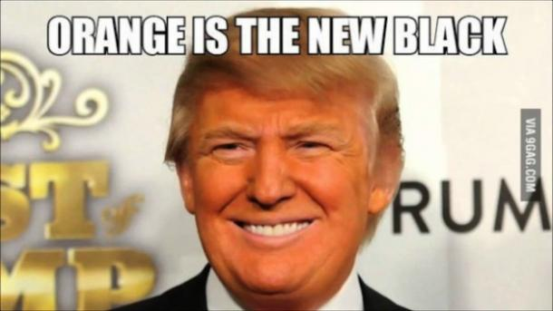 Donald Trump meme orange is the new black
