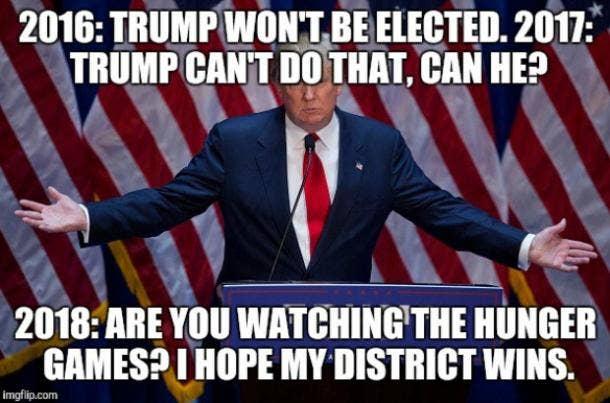 Funny Donald Trump Hunger Games meme