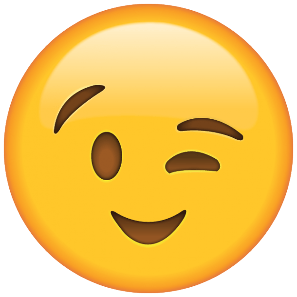 "The wink face emoji — the ""sexy"" emoji"